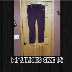 Maurices Purple Pants Size 14